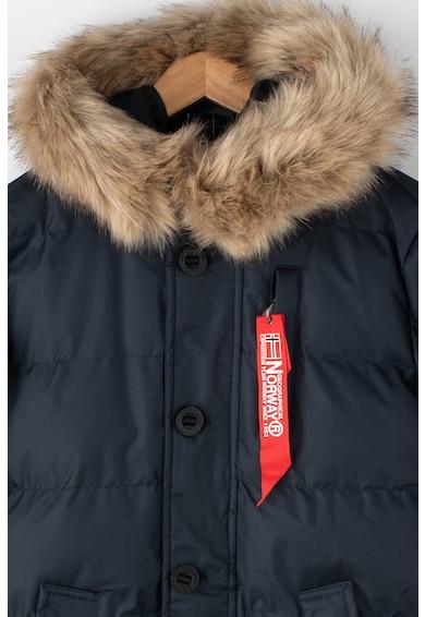 Geographical Norway Geaca cu gluga si garnitura detasabila de blana sintetica Dimitri Fete