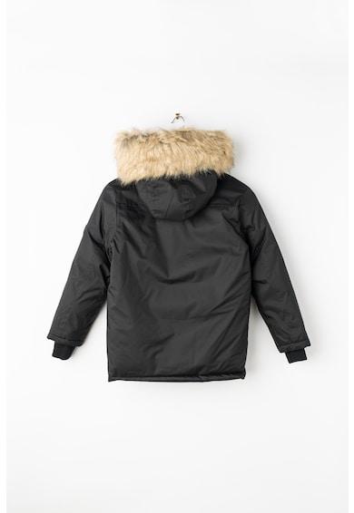 Geographical Norway Geaca cu fermoar si garnitura de blana sintetica Driver Boy Fete