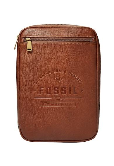Fossil Кожен несесер Org Tech с цип и релефно лого Мъже