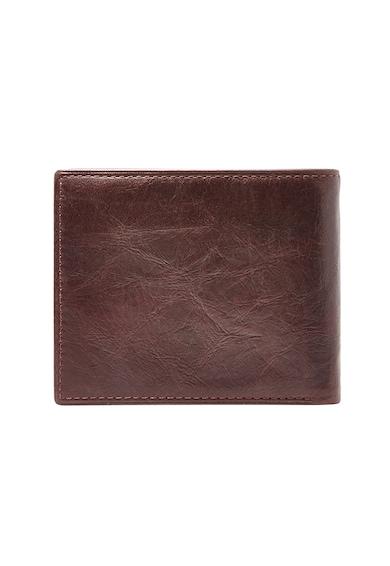 Fossil Ingram RFID félbehajtható bőr pénztárca férfi