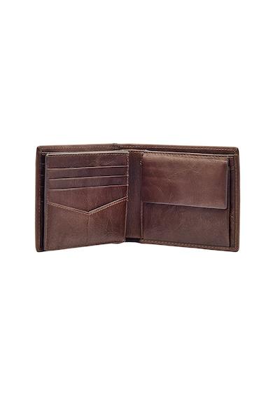 Fossil Кожен портфейл Ingram RFID с двойно прегъване Мъже