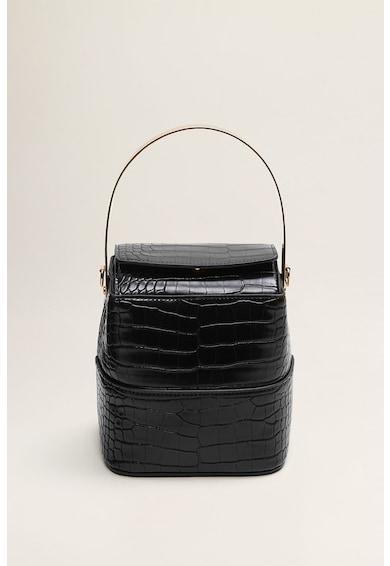 Mango Kubic krokodilbőr mintás keresztpántos műbőr táska női
