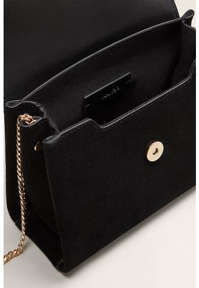 Mango Coquet keresztpántos nyersbőr táska láncos pánttal női