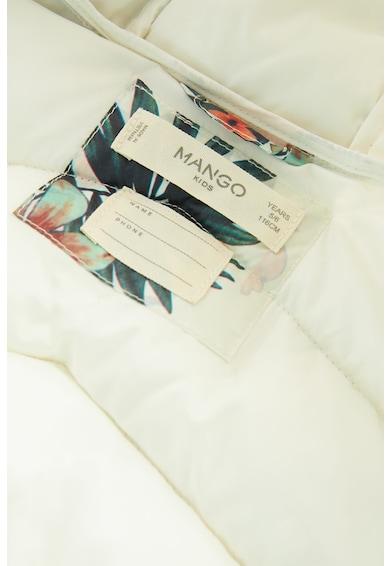 Mango Geaca cu vatelina si imprimeu Alip Fete