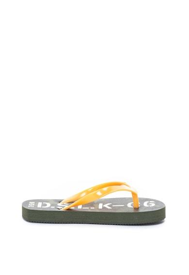 Diesel Papuci flip-flop cu imprimeu logo Baieti