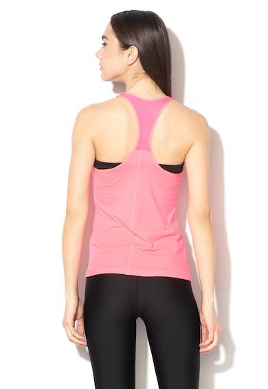 Under Armour Top cambrat cu spate decupat, pentru fitness Femei