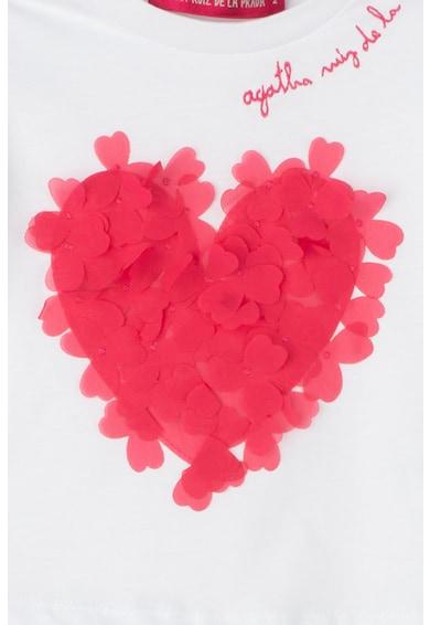 Agatha Ruiz de la Prada Tricou cu aplicatie in forma de inima pe piept Fete