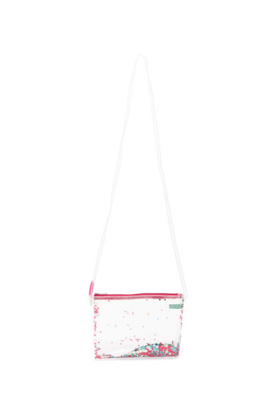 United Colors of Benetton Geanta transparenta de umar cu insertii de paiete Fete