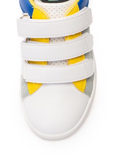 United Colors of Benetton Pantofi sport de piele ecologica, cu model colorblock Baieti