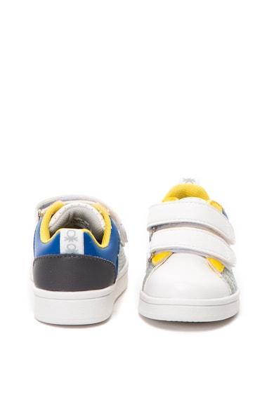 United Colors of Benetton Pantofi sport de piele ecologica, cu velcro Baieti