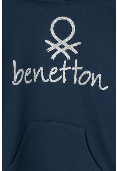 United Colors of Benetton Kapucnis pulóver csillámos mintával Lány