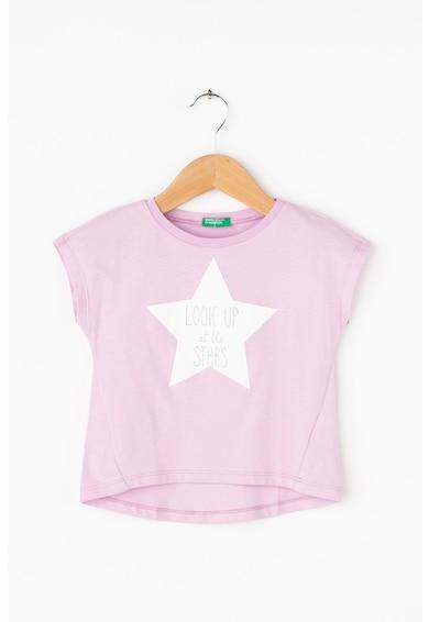 United Colors of Benetton Póló grafikai és szöveges mintával Lány