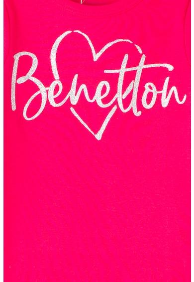 United Colors of Benetton Felső csillámos logómintával Lány