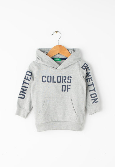 United Colors of Benetton Szövegmintás kapucnis pulóver Fiú