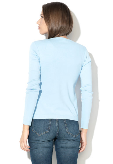 United Colors of Benetton Cardigan din tricot fin cu terminatii striate Femei