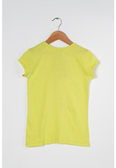 United Colors of Benetton Szövegmintás póló csillámmal Lány