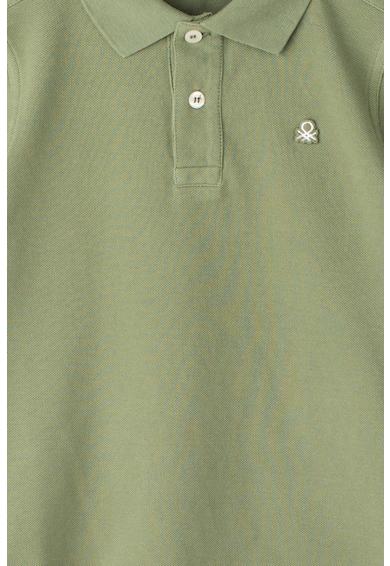 United Colors of Benetton Galléros póló hímzett logóval Fiú