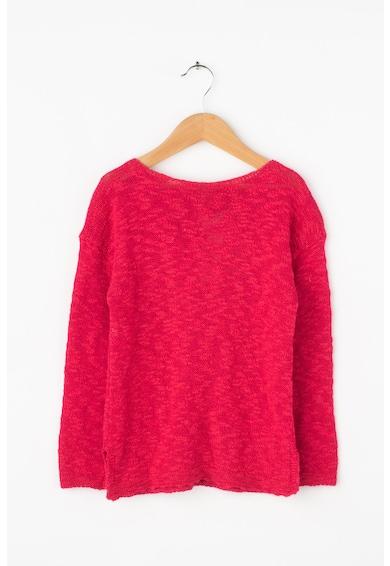 United Colors of Benetton Szövegmintás kötött pulóver fényes betétekkel Lány