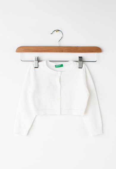 United Colors of Benetton Cardigan crop din tricot fin Fete