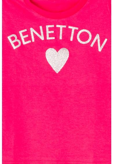 United Colors of Benetton Tricou cu imprimeu logo Fete
