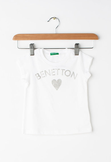 United Colors of Benetton Tricou cu imprimeu logo Fete