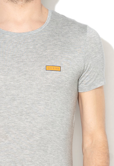 Guess Tricou din amestec de lyocell, cu imprimeu logo Barbati