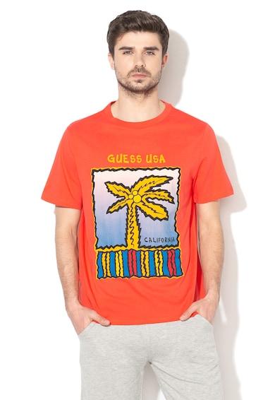 Guess Tricou cu imprimeu logo Barbati