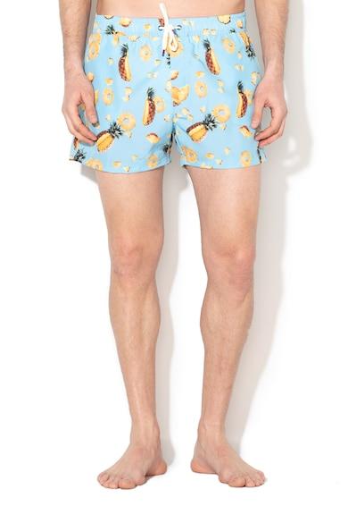 Guess Pantaloni scurti de baie cu imprimeu grafic Barbati