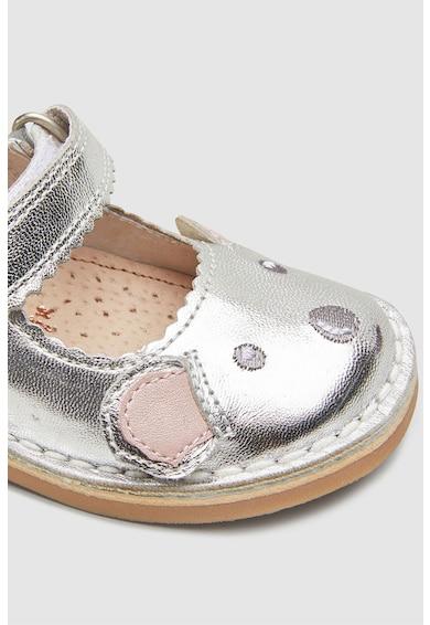 NEXT Bőr pántoscipő medvés dizájnnal Lány