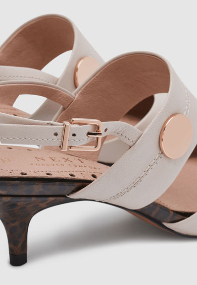 NEXT Sarokpántos bőrcipő női