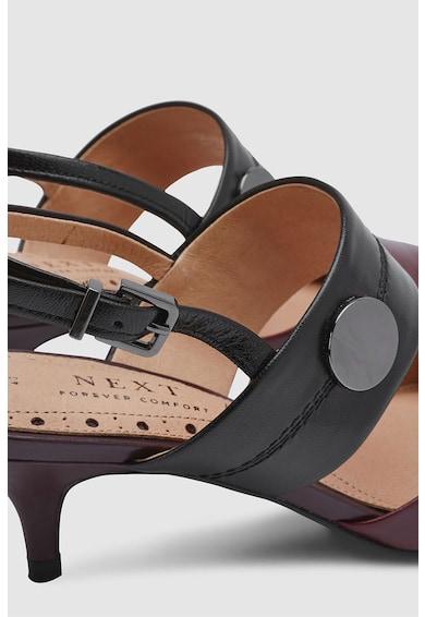 NEXT Hegyes orrú sarokpántos bőrcipő női