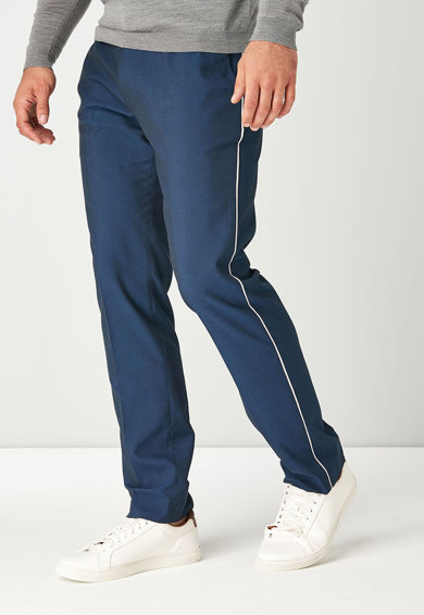 NEXT Pantaloni slim fit cu garnituri laterale contrastante Barbati