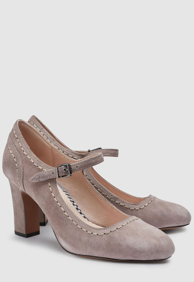 NEXT Pántos nyersbőr cipő női