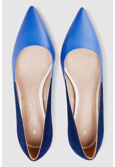 NEXT Műbőr és nyersbőr hatású hegyes orrú cipő női