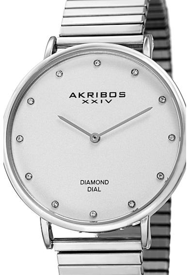 AKRIBOS XXIV Akribos, Analóg karóra 12 gyémánttal díszítve női