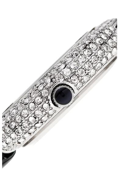 BURGI Gyémántokkal és kristályokkal díszített bőrszíjas karóra női