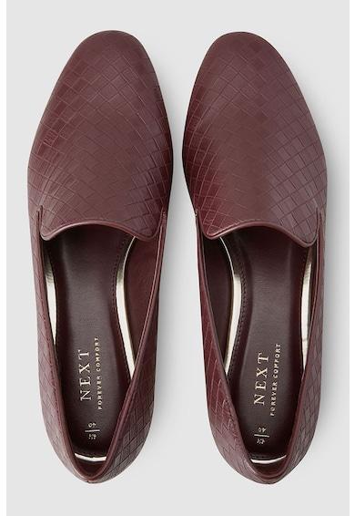 NEXT Műbőr cipő fonott hatással női
