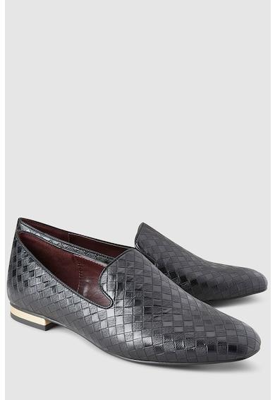 NEXT Pantofi loafer de piele ecologica cu aspect impletit Femei