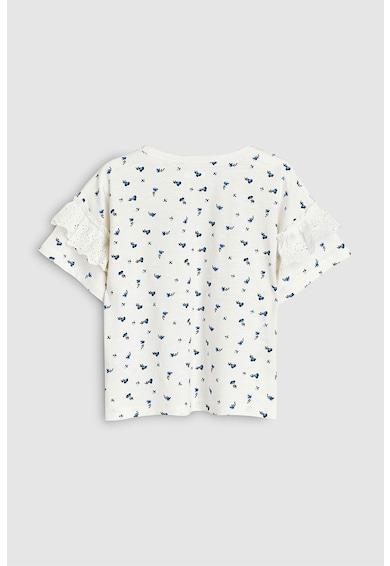 NEXT Virágmintás póló fodrokkal Lány