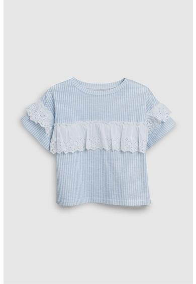 NEXT Csíkos póló fodrokkal Lány