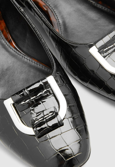 NEXT Pantofi cu model crocodil si detaliu metalic Femei