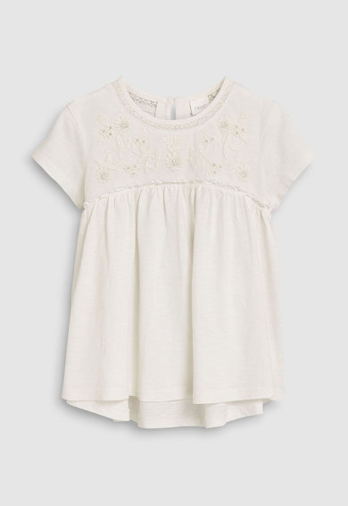 NEXT Разкроена рокля с бродерия Момичета
