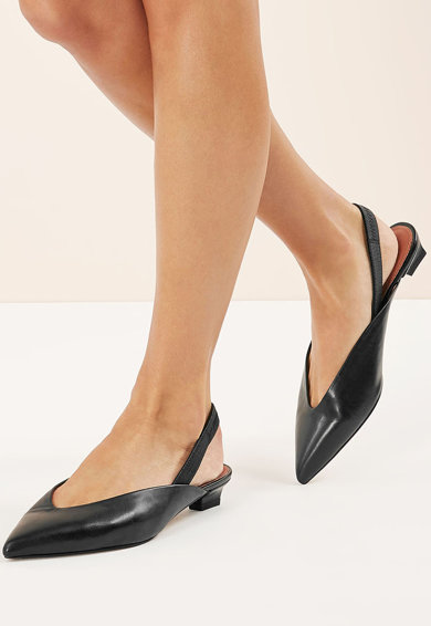 NEXT Pantofi slingback de piele, cu varf ascutit Femei