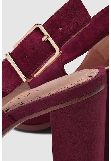 NEXT Pantofi slingback de piele intoarsa cu toc masiv Femei