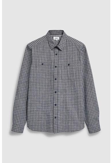 NEXT Риза с джоб на гърдите и релефна повърхност Мъже