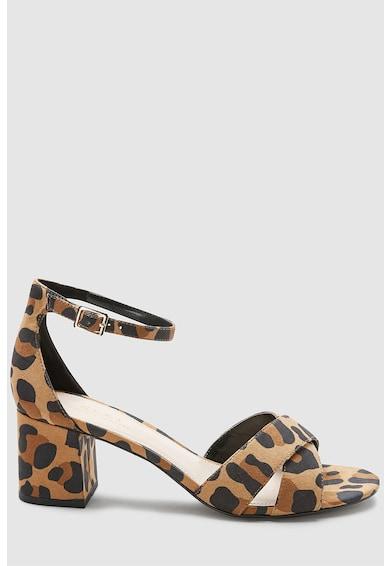 NEXT Sandale cu animal print si toc masiv Femei