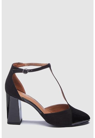 Vastag sarkú T-pántos cipő - NEXT (515481-BLACK) b9e1ce08aa