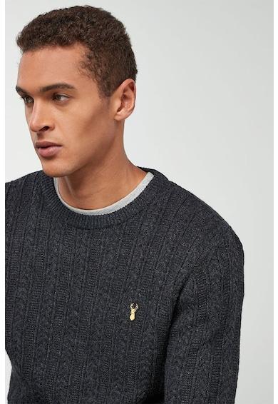 NEXT Csavart kötésmintás pulóver férfi