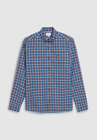 NEXT Hímzett kockás ing férfi