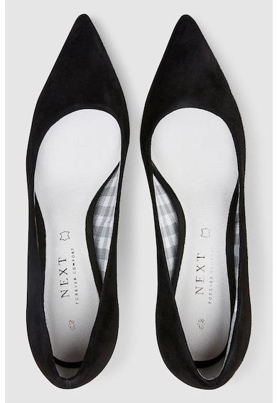NEXT Hegyes orrú nyersbőr cipő női